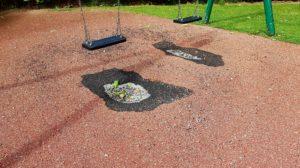 Exemple de sol caoutchouc dangereux