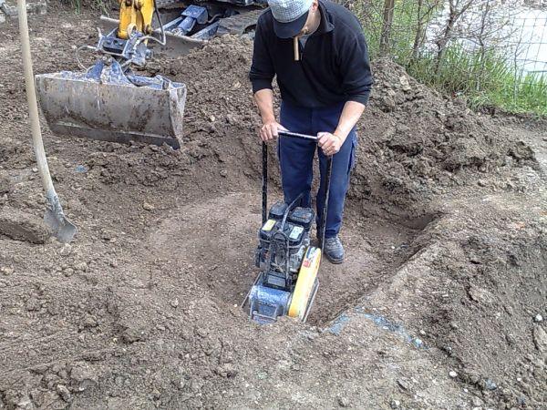 Compactage des fouilles