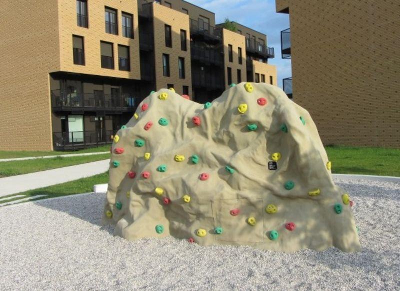 Rocher de grimpe pour places de jeux