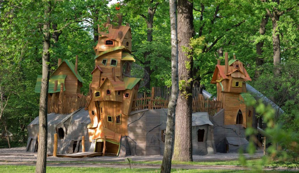 Village entier en bois de robinier
