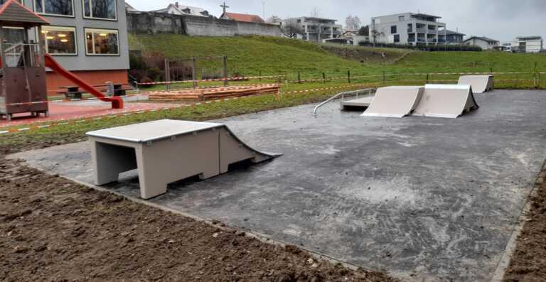 Skatepark installé à Cottens