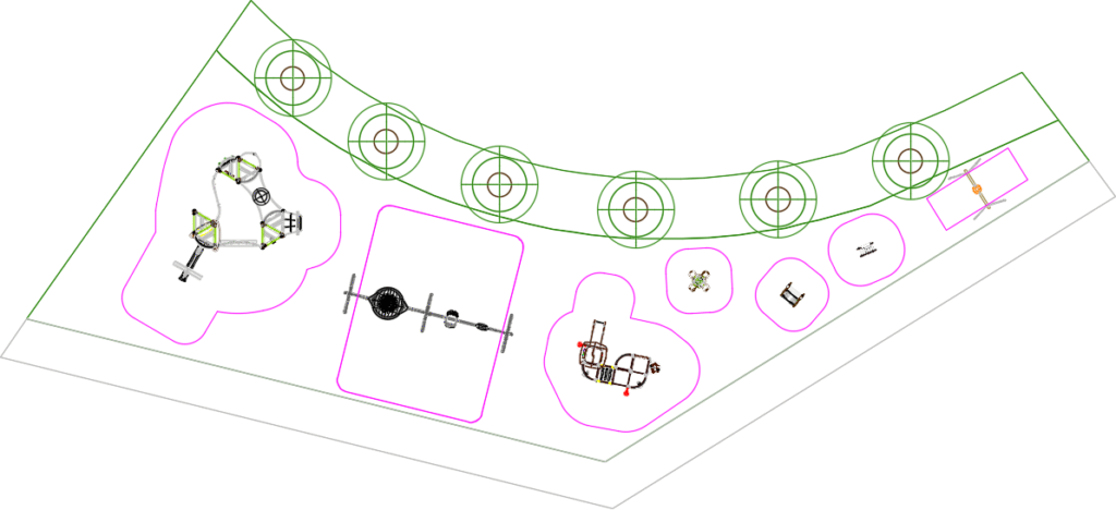 Plan de la place de jeu à Etoy, projet 1