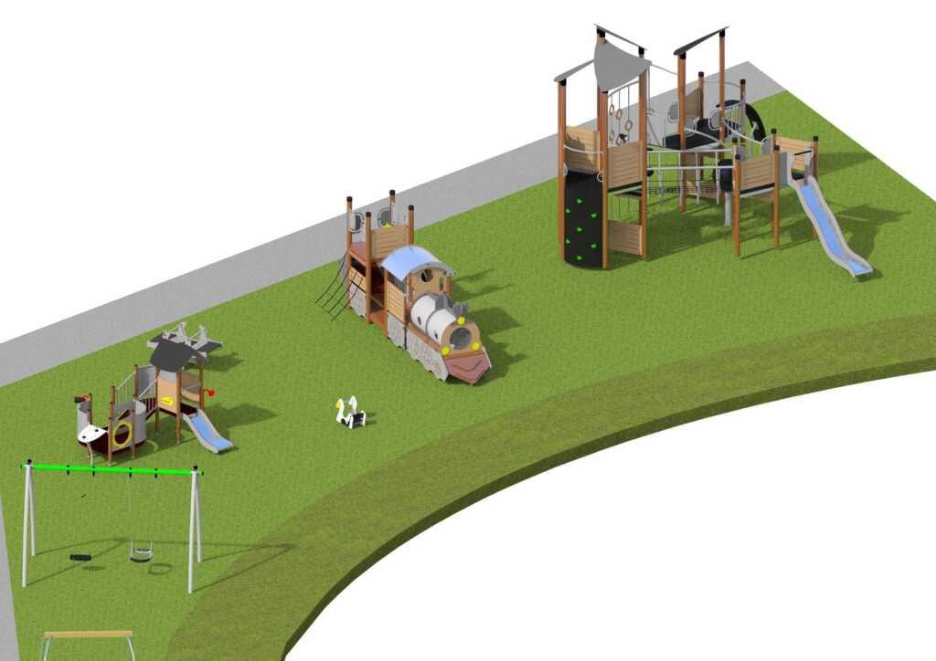 Vue 3D de la place de jeu à Etoy