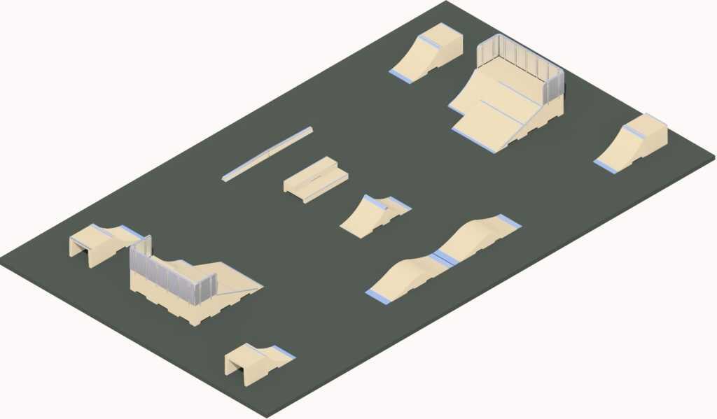 Modules en béton pour skatepark